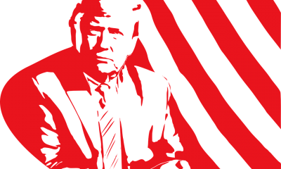 Drawing of US president Donald Trump