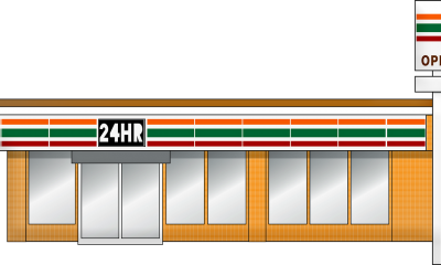 Illustration of store front
