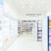 Blurred image of a supermarket