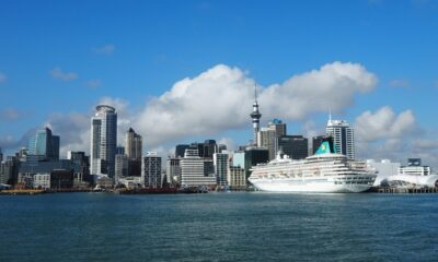 Cruise ship at Aukland harbour