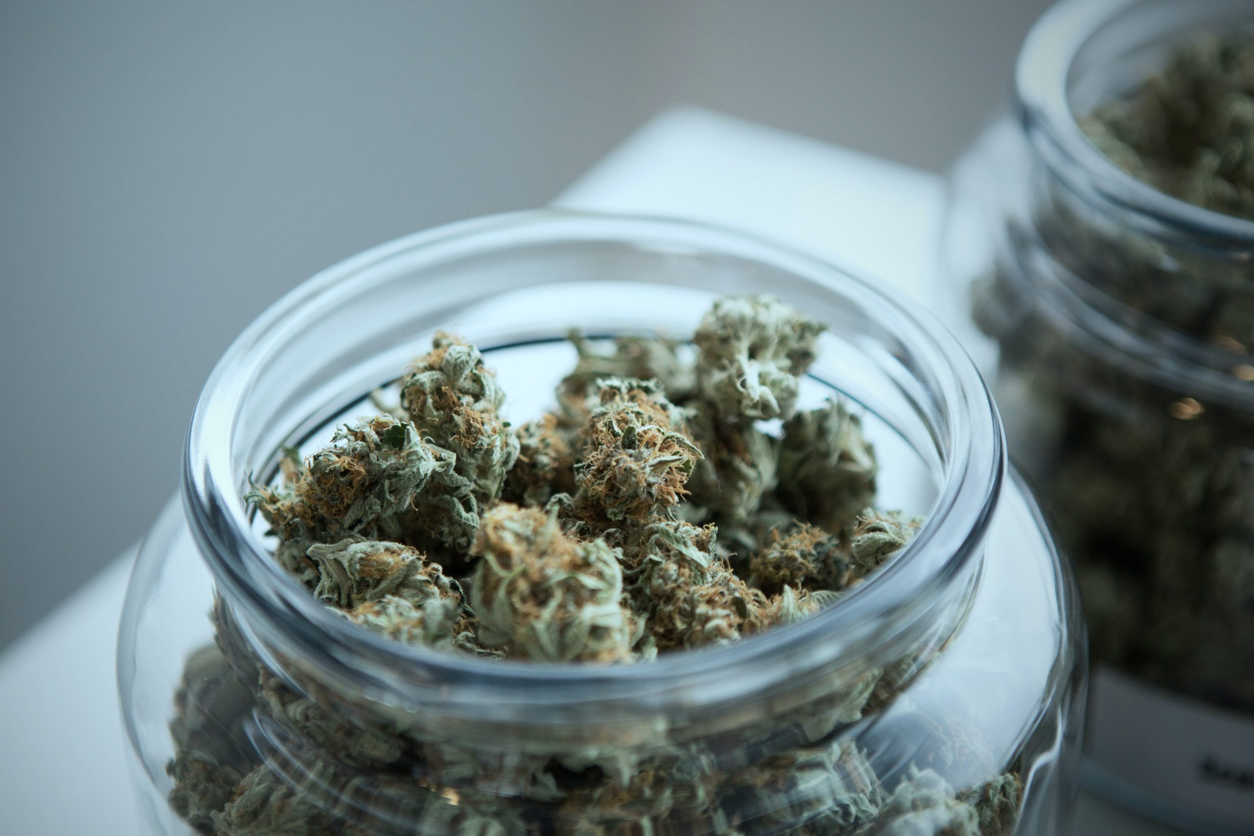 Two jars of medical cannabis