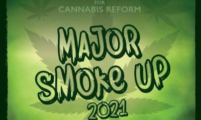 Major Smke Up 2021 green banner